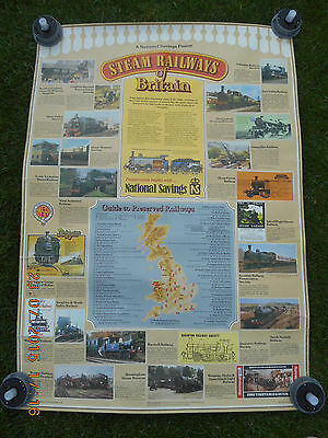 National Savings Poster 'steam Railways Of Britain' 1980