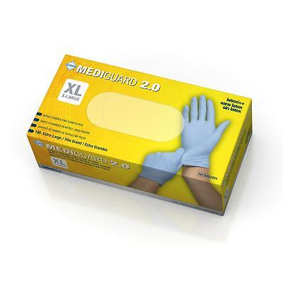 sample, 10 pack or box of 200 in S or XL MediGuard 2.0 Nitrile Exam Gloves