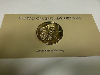 The 100 greatest masterpieces, limited first edition proof. Franklin Mint (S10)