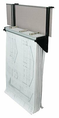 Adir Cubicle Rack for Blueprints - Plans Posters  with 6 File Hanging Clamps 618