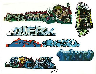 G Scale Graffiti Decals G05 From Real Graffiti Photos
