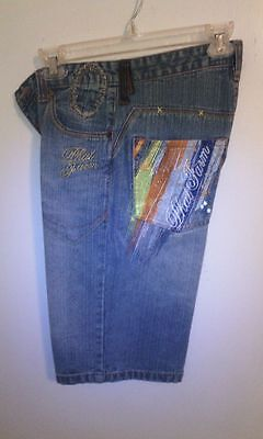Phat Farm Boy's Short Blue Denim Jean size 12 Relaxed fit