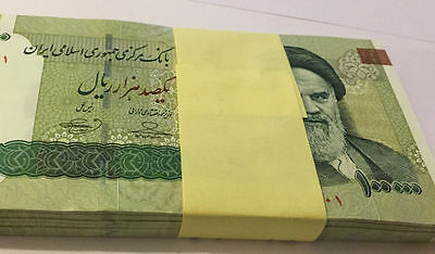 Lot Iran, 10x  100000 (10,000)  Rials  UNC UNCIRCULATED 1 Milllion Rial Currency