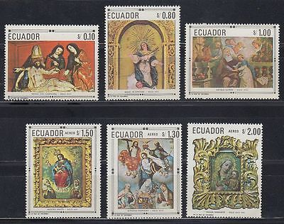 Ecuador 1968 ** Mi.1403/08 Gemälde Paintings Skulpturen Sculptures [sq5499]