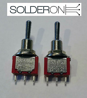 2pcs Mini Toggle Switch SPDT ON-OFF-ON - Center Off - SALECOM S1330