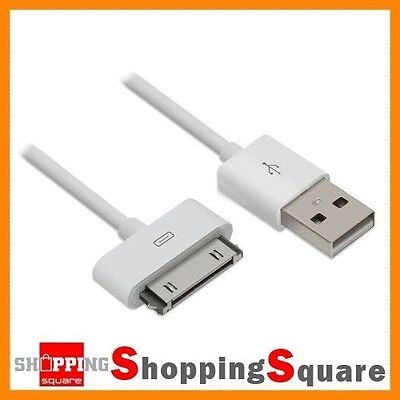 USB Charging Cable for Apple iPhone 4, 4S, 3GS, 3 iPod iPad 30pin Sync Data