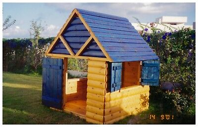 Wooden children playhouse Building Plans - do it yourself