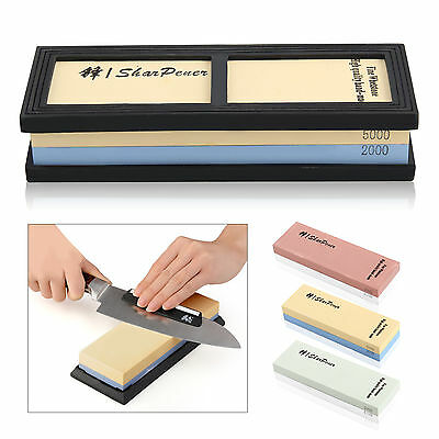 Master Class Dual Whetstone Double Sided Knife Sharpener Sharpening Wet Stone