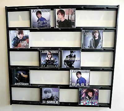 CD Mural Wall Display for David Bowie, Bruno Mars, One Direction, Adele, Genesis