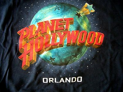 Planet Hollywood Orlando Blue Tee Size L New Neu