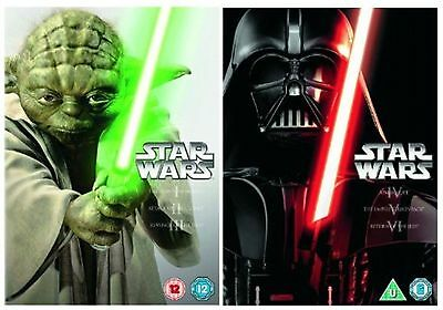 Star Wars Complete Film 1-6 Collection Dvd Part 1 2 3 4 5 All 6 Episode Movie Uk