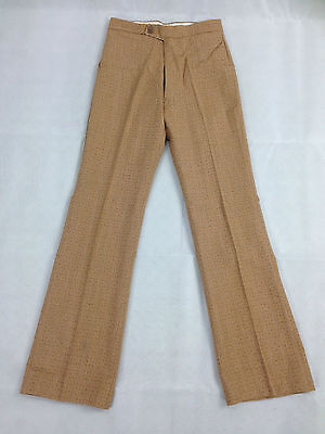 Tweed Trouser Brown New Vintage 1970's Leisure Pant Clothing Malta Disco Golf