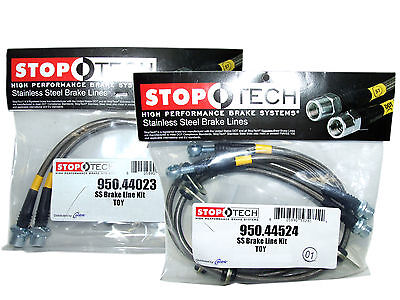 Stoptech Stainless Steel Braided Brake Lines (Front & Rear Set / 44023+44524)