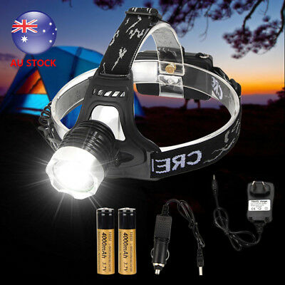 Rechargeable 10000Lm XML T6 LED Headlamp Headlight Head Torch Hunting Front Lamp