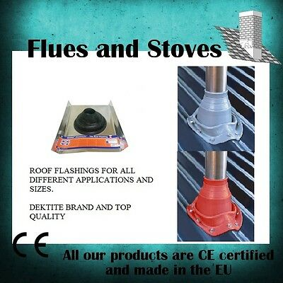Flashing Kit Stove Wood Burner Roof Flue Chimney High or low Temp options