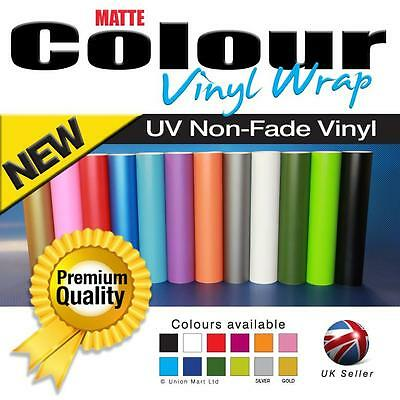 Matte/Matt Vinyl Car Wrap - Air Free - Self Adhesive - Various Colours & Sizes