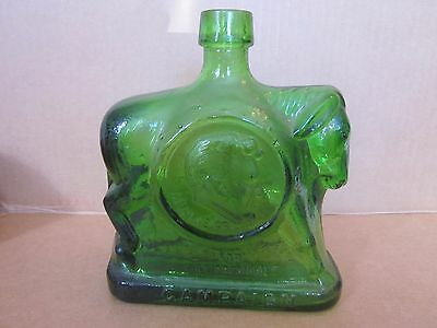 1st edition Wheaton green glass decanter campaign Humphrey and Muskie 1968