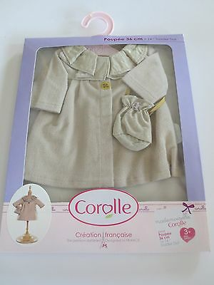 "Corolle Ivory Coat & Bag For 14"" Doll - Y7412-0"