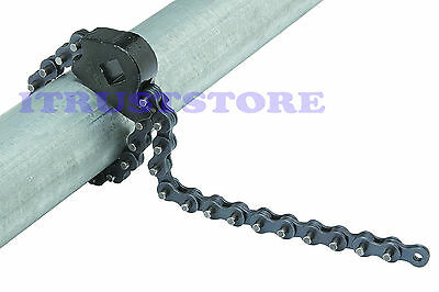 Steel Chain Link Clamp Pipe Grip Strap Grip Wrench Tool For Ratchet Socket Drive