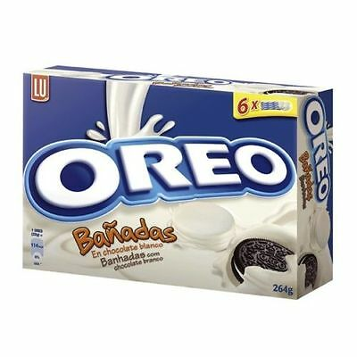 OREO COOKIES COVERED WHITE or MILK CHOCOLATE  FREE P&P Great flavour gift