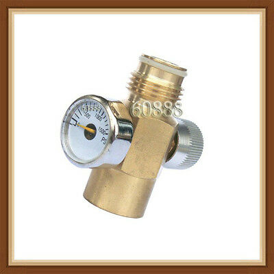 Brass Made paintball Inner Thread CO2 Tank On/Off Valve with 1500 Psi Gauge