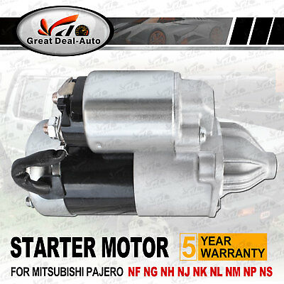 For Mitsubishi Starter Motor Pajero NG NH NJ NK NL NM NP Manual 3.0L 3.5L 3.8L