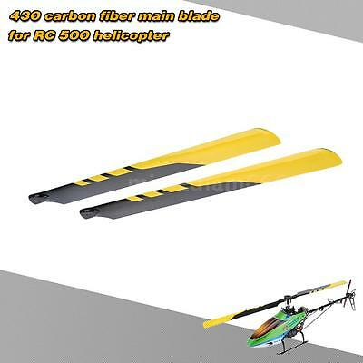 Top-sell Carbon Fiber 430mm Main Blades for RC 500 Helicopter Popular 1LH6