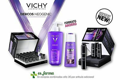 Vichy Dercos Neogenic Tratamiento Anticaida Gel Fluido Ampollas Champu Hair Loss