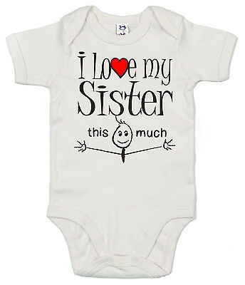 "Funny Baby Bodysuit /""I Love My Cousin this Much/"" Trimmed Babygrow Newborn Gift"