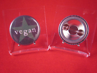 Button Vegan grün