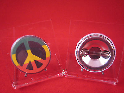 Button Peace Rasta