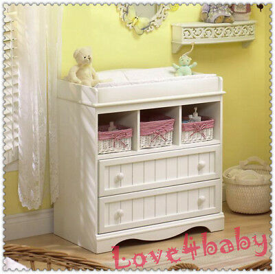 New 3in1 Sleigh Baby Cot w/ underneath drawer + 7 Drawers Dresser + Change Table