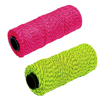 Marshalltown Bonded Braided Nylon Masons Brick Line 152M -Yellow/blk Or Pink/blk