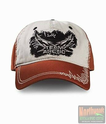 Arctic Cat Team Arctic Frayed Adjustable Cap Hat - Burnt Orange / Cream 5253-137