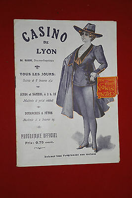 Programme Casino Lyon mai 1921 spectacle
