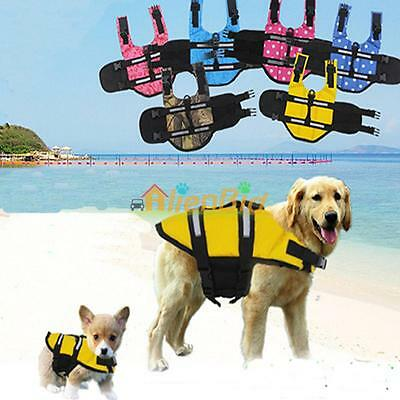 Dog Saver Life Jacket Vest Reflective Pet Preserver Aquatic Safety 6 Style 5Size