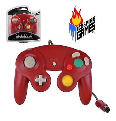 Brand New Controller for Nintendo GameCube or Wii -- Mario RED