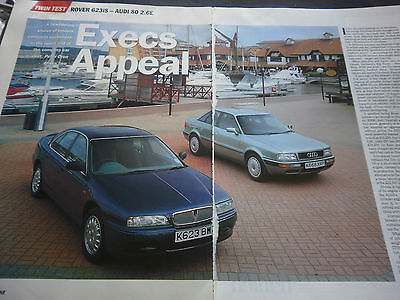 ROVER 623iS vs AUDI 80 2.6E # 5 PAGE ARTICLE / REPORT #