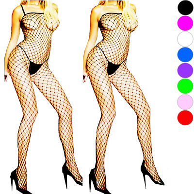 Bodystocking Mesh Fishnet Dress Style Body Stocking Bodysuit Nightwear Lingerie