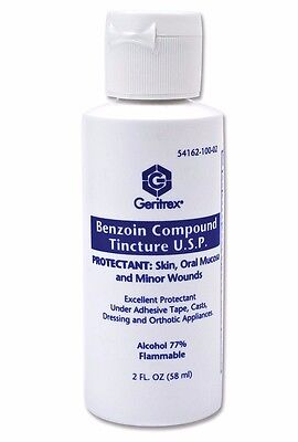 Geritrex Benzoin Compound Tincture USP Topical Skin Protectant, 2 oz. bottle