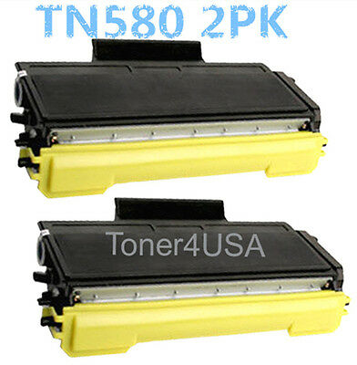 2pk TN580 Toner Cartridge For Brother HL-5240 5250DN MFC-8460N 8660DN DCP-8060