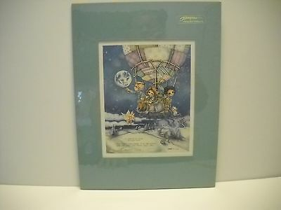 "Bergsma Galleries Limited Matted Lithograph Hot Air Balloon Picture 16"" X 12"""