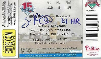 scott kingery signed 1st homerun ticket autographed lakewood blueclaws mlb auto