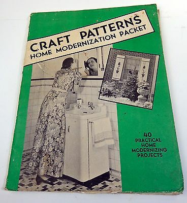 Craft Patterns Home Modernization Packet, late 1940's Home Projects Vintage
