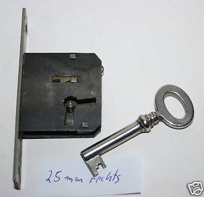 Mortise lock,Castle,1in Backset Antique Element