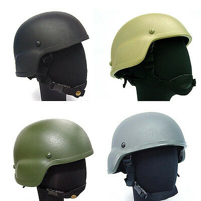 Paintball Military Tactical PASGT SWAT ARMY MICH 2000 Airsoft Hunting Helmet FRP