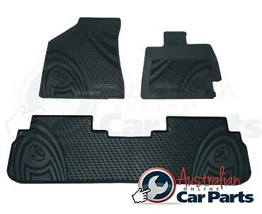 KLUGER Rubber Floor Mats Front & Rear New Genuine Toyota 2014-2015 All Weather