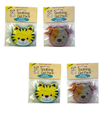 Kids Soothing Gel Pack - Reuseable First Aid Cooling Relif - Cute Designs