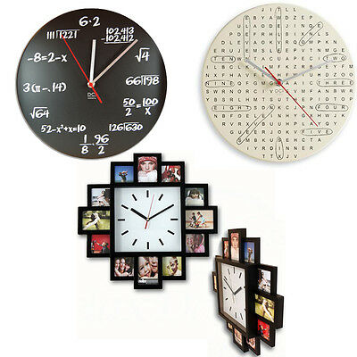 Modern Classic Large Wall Mounted Clock Watch Indoor Home Decor Novelty Hanging