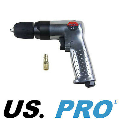 "US PRO 3/8"" Dr Professional Reversible Keyless Chuck Air Drill 8203"
